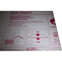Placa alveolar de policarbonato Lexan thermoclear–Protección UV de los dos lados–1500x 700x 4,5mm)