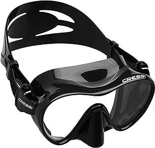 Cressi F1 Mask Máscara Monocristal Tecnología Frameless, Unisex, Negro, L