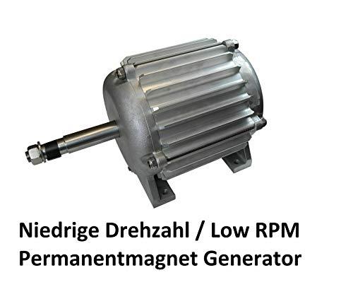 Permanentmagnet Generator, 12 Volt, 24 Volt, 48 Volt, 3-Phasen-Magnetgenerator, 3-Phasen-Generator Permanentmagnet-Generator Windkraftanlage (48v / 3,8 KW - MONSTER - Low RPM)