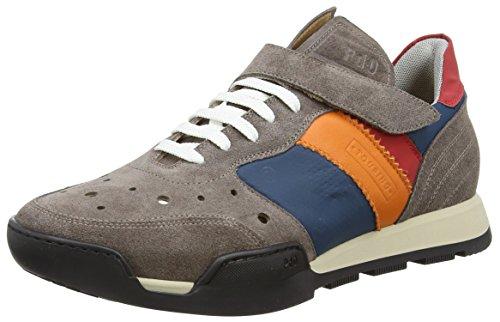 Pantofola D´ORO Herren Touring Low Sneaker, Mehrfarbig (APS Almond/Petrolio/SALMONE), 42 EU