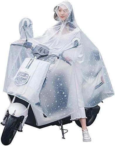 GLJY Outdoor Regen Poncho Regenmantel Elektroauto Mode transparent transparent siamesischen PVC Erwachsenen Motorrad Fahrrad Poncho für Erwachsene Outdoor Radfahren Camping Wandern,XXXXL