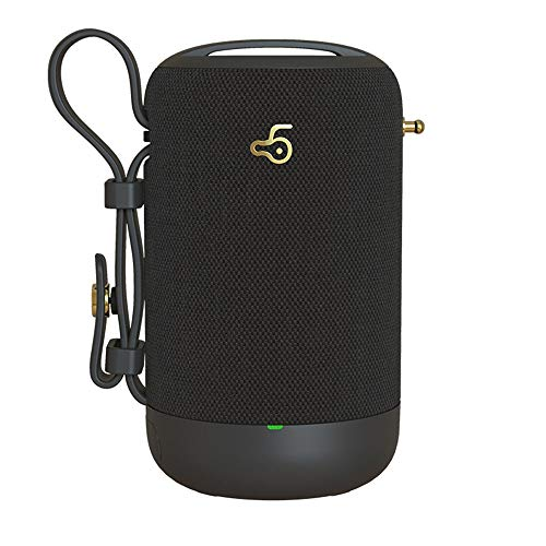 YUHUANG Bluetooth-Lautsprecher, wasserdichtes Plug-In tragbareBluetooth-Lautsprecher, Subwoofer, Auto Outdoor Home, schwarz, rot, grau und weiß,Black
