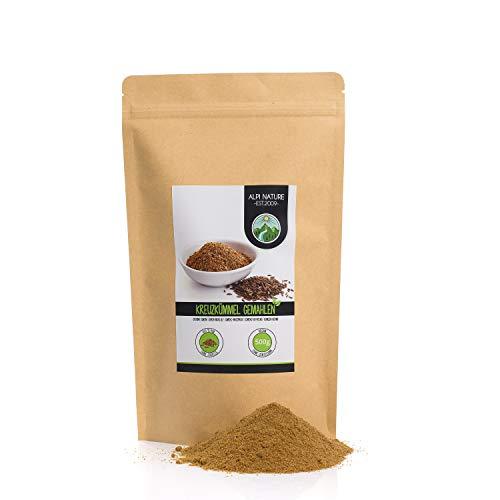 Comino molido (500g), comino en polvo 100% natural, semillas de comino molidas naturalmente sin aditivos, vegano