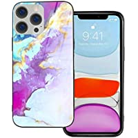 Hierceson 6.1 Inch Pink Marble Slim Protective Phone Case for iPhone 12 & 12 Pro Case