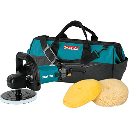 Makita 9237CX3 Makita 7' Polisher, 10 AMP, 600-3,000 RPM, var. spd., loop handle with foam pad and...