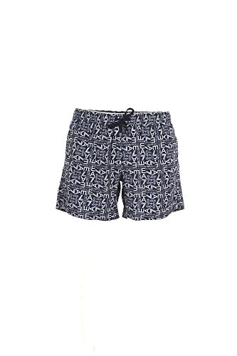 Emporio Armani Herren Sea World Beachwear Monogram Boxers Boardshorts, blau, Small