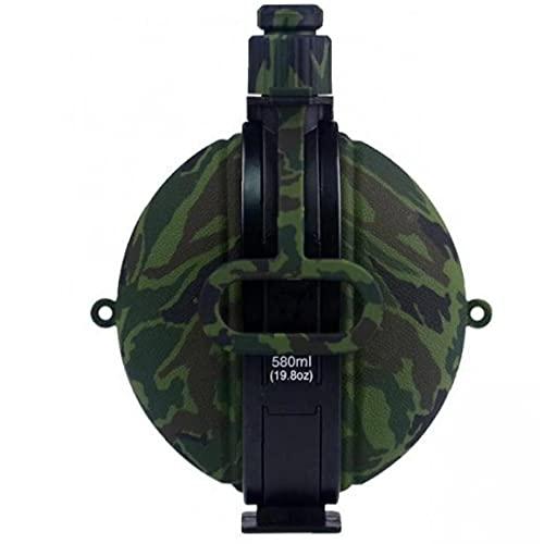 Botella de agua al aire libre militar de silicona plegable de gran capacidad de la caldera del agua que va de excursión a prueba de fugas botella de agua con mosquetón compás de Viajes Deportes