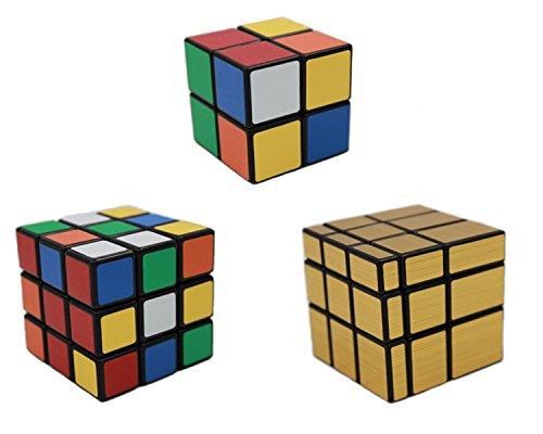 MEISHINE® 3 Pack Mágico Cubo 2x2x2 3x3x3 Cubo Mágico, Mirror Cube Cubo Mágico Inteligencia Mágico Cubo de la Velocidad Juego de Puzzle Cube Speed Magic Cube (Style 2)