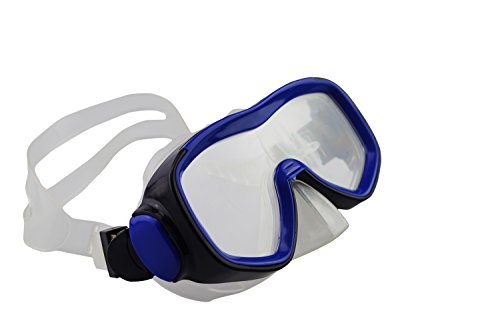 Qishi Silicone Swimming Goggles Anti-Water Anti-Fog for Adult (Blue)