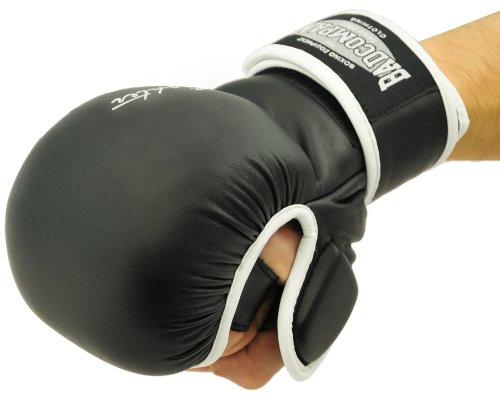 Bad Company MMA Handschuhe Black Mamba I Trainingshandschuhe ohne Finger I Gr. M