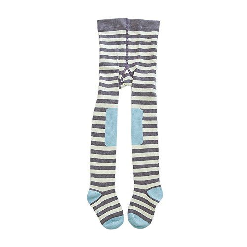 Elonglin – Meia-calça de algodão unissex para bebês com estampa de desenhos de recém-nascidos, leggings infantis com pés, meias de guerra para 1 a 2 anos listradas 2
