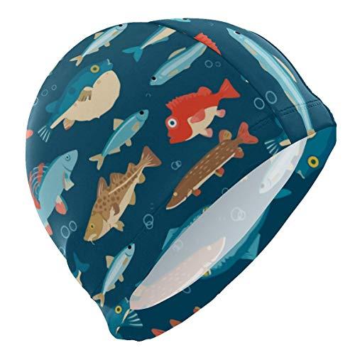Gebrb Gorro de Baño/Gorro de Natacion, Kawaii Undersea Puff