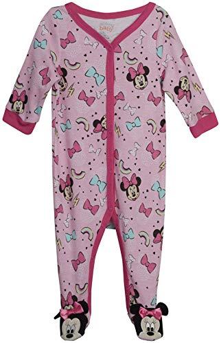 Disney Baby Girls' Sleep N' Play – Footie Pajamas: Minnie Mouse, Daisy Duck, Princess (Newborn/Infant), Size 6-9 Months, Minnie Pink