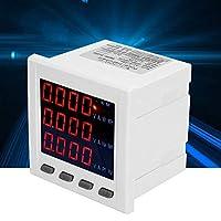 高精度電圧電流ディスプレイ、多機能LCDディスプレイデジタル3相電流計電圧電流コンビネーションメーターAC220V