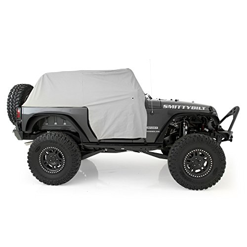 Smittybilt 1068 Gray Water-Resistant Cab Cover with Door Flap