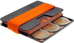 AARÁNDANO ™ Premium Carbon Slim-Wallet mit CoinCard - Kartenetui mit Münzfach und Geldklammer - RFID NFC Schutz - Geldbörse Portmonee für Minimalisten