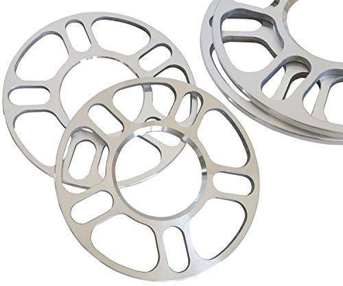 ZHTEAPR 4pc 5mm Universal Wheel Spacers Adapters for Most 5 Lug Vehicle Bolt Patterns PCD from 100-120.65mm - 5x100 5x108 5x110 5x112 5x114.3 5x4.5 5x115 5x120 5x120.65 5x4.75