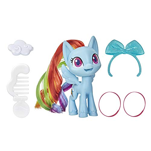 My Little Pony Rainbow Dash Potion Pony Figure -- 3-Inch Blue Pony Toy with Brushable Hair, Comb, and 4 Surprise Accessories