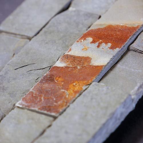 Brickstones, Wandverblender, Mauerverblender Naturstein 15x60 cm Schiefer multicolor, MOES510, 1 Kart. = 0,50 qm