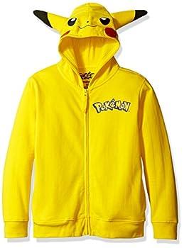 Pokemon Big Boys Pikachu Costume Hoodie Yellow Small-8