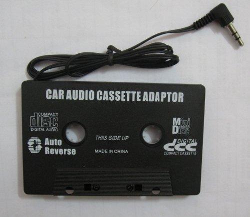 LMLS bilkassettljudadapter – 3,5 mm kontakt – spela din mobiltelefon och MP3-musik genom din bilstereo via bandspelare – svart färgad – stereo – fungerar med alla bilkassettspelare garanterat