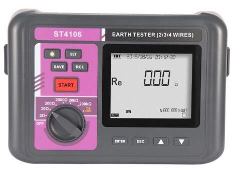 ST4106 Medidor inteligente de resistencia a la tierra con 4