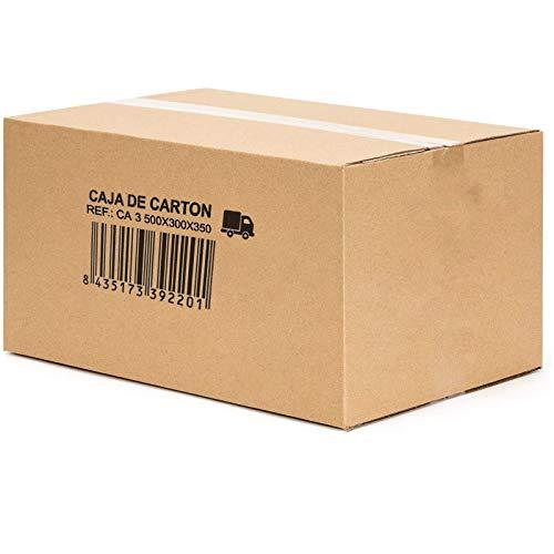 OCEANO Paquete de 10 cajas para mudanzas, cajas para mudanzas, envíos, almacenamiento y transporte. (500x300x350mm)