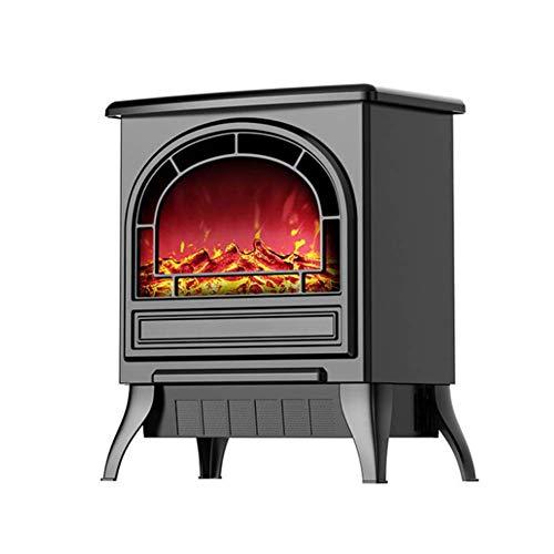 KIWG vrijstaande elektrische open haard met realistisch vlammenbeeld, beveiliging tegen oververhitting, elektrische open haard-verwarming, geschikt voor binnenruimtes (1800 W)