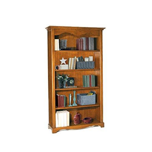 Libreria, stile classico, in legno massello e mdf con rifinitura in noce lucido - Mis. 120 x 40 x 210