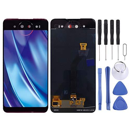LCD画面の修理部品 Vivo NEXデュアルディスプレイ用背面LCDスクリーンおよびデジタイザフルアセンブリ 部品の修理と交換、Vivoに対応 (色 : Blue)