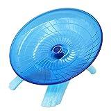 M.Z.A Plato para hámster con forma de hámster y rueda de juguete duradera con (azul)