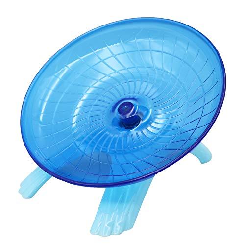 M.Z.A Mute Hamster Fliegende Untertasse Stabiles Hamster Laufrad Langlebiges Hamster Spielzeug mit (Blau)