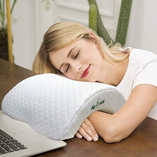 Big Ant Memory Foam Kissen Nackenkissen Memory-Schaum, Bogen U-förmig Neck Pillow, Schlafkissen 6 in 1 Rückpralldruckkissen, Kopfkissen Ice Silk für Schutz der Hand und Nacken