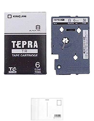 キングジム テープカートリッジ テプラTR 6mm TC6S 白 【× 2 個 】 + 画材屋ドットコム ポストカードA