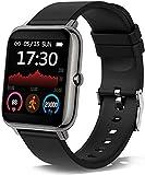 Smartwatch P9 Pro, Reloj Inteligente Deportivo con Pulsómetro, Cronómetro, Presión Arterial, Calculadora, Monitor de Sueño para Android e iOS