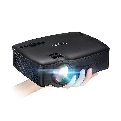 Projector,2018 Upgraded (+80% Lumens) Video Projector 1080P Supported, 30,000h Lamp Life with Big Display for Home Theater Games, Fire TV Stick HDMI USB SD Card VGA AV TV Input Oregon Scientific