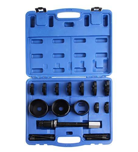 LLCTOOLS 19 TLG. Radlager Werkzeug Set Radlagerwerkzeug Radnabe Abzieher Ausdrücker Montage Demontage