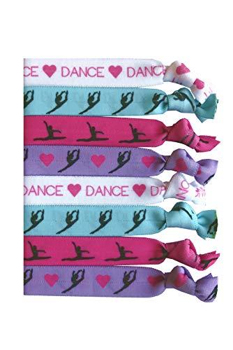 8 Piece Dance Hair Elastic Set - Accessories for Dancers, Women, Girls, Dance Teachers, Dance Classes - MADE in the USA