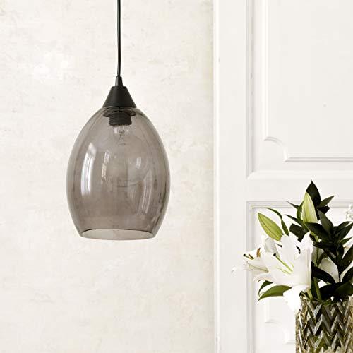 Kenay Home Lámpara De Techo Fillen, Negro, 18x22x18cm (WxHxD)