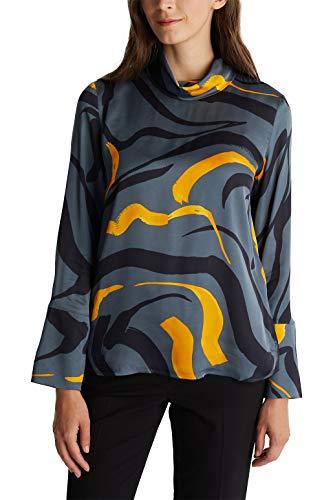 ESPRIT Collection Damen 090EO1F308 Bluse, 018/GUNMETAL 4, 32