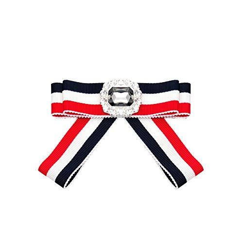 auvwxyz. Broschen Kragenblumendame-Krawattenschleife dreifarbiges gestreiftes Geschäftshemd-Broschezubehör