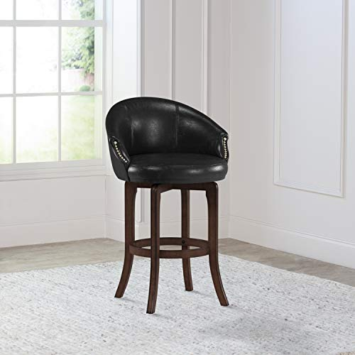 Hillsdale Furniture Dartford Swivel Bar Height Stool, Dark Brown Cherry