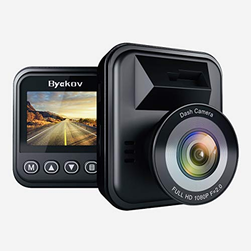Byakov Dash Cam, 2 inch LCD Screen 1080P Full HD Dash Camera for Cars with G-Sensor, WDR, Loop Recording, 170°Wide Angle, Night Vision, Motion Detection