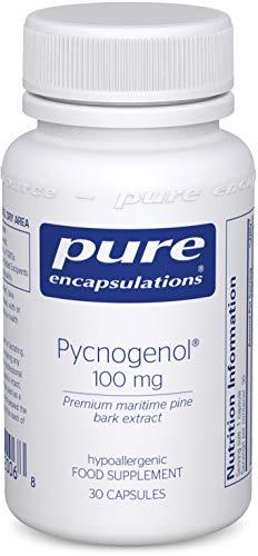 Pure Encapsulations - Pycnogenol 100mg - Premium Maritime Pine Bark Extract Supplement - 30 Vegetarian Capsules