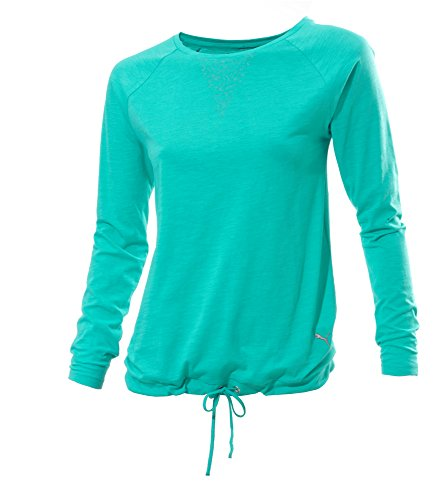 PUMA Damen Langarmshirt Style Better Lightweight Coverup Top I, Pool Green, XXL