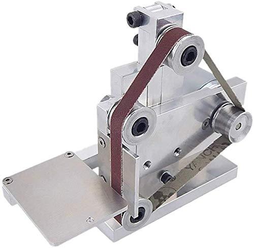 Lalaoo Electric Belt Sander,Machine Sanding Belt Adapter Multifunctional Grinder Mini Electric Belt Sander DIY Polishing Grinding Tool