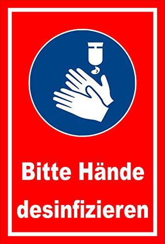 Melis Folienwerkstatt Aufkleber Hände desinfizieren - 30x20cm – 20 VAR S00225-014-D