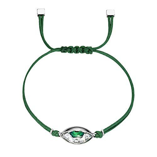 Swarovski Braccialetto Power Collection Evil Eye, Verde, Acciaio Inossidabile