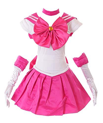 Kawaii-Story MN-H-6006 Sailor Moon Crystal Chibiusa Chibimoon Rosa Cosplay Disfraz Rosa. S