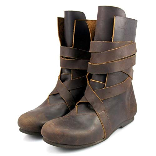 Leonardo Carbone Mittelalter Haithabu-Stiefel Wikinger aus Nubukleder 39/braun